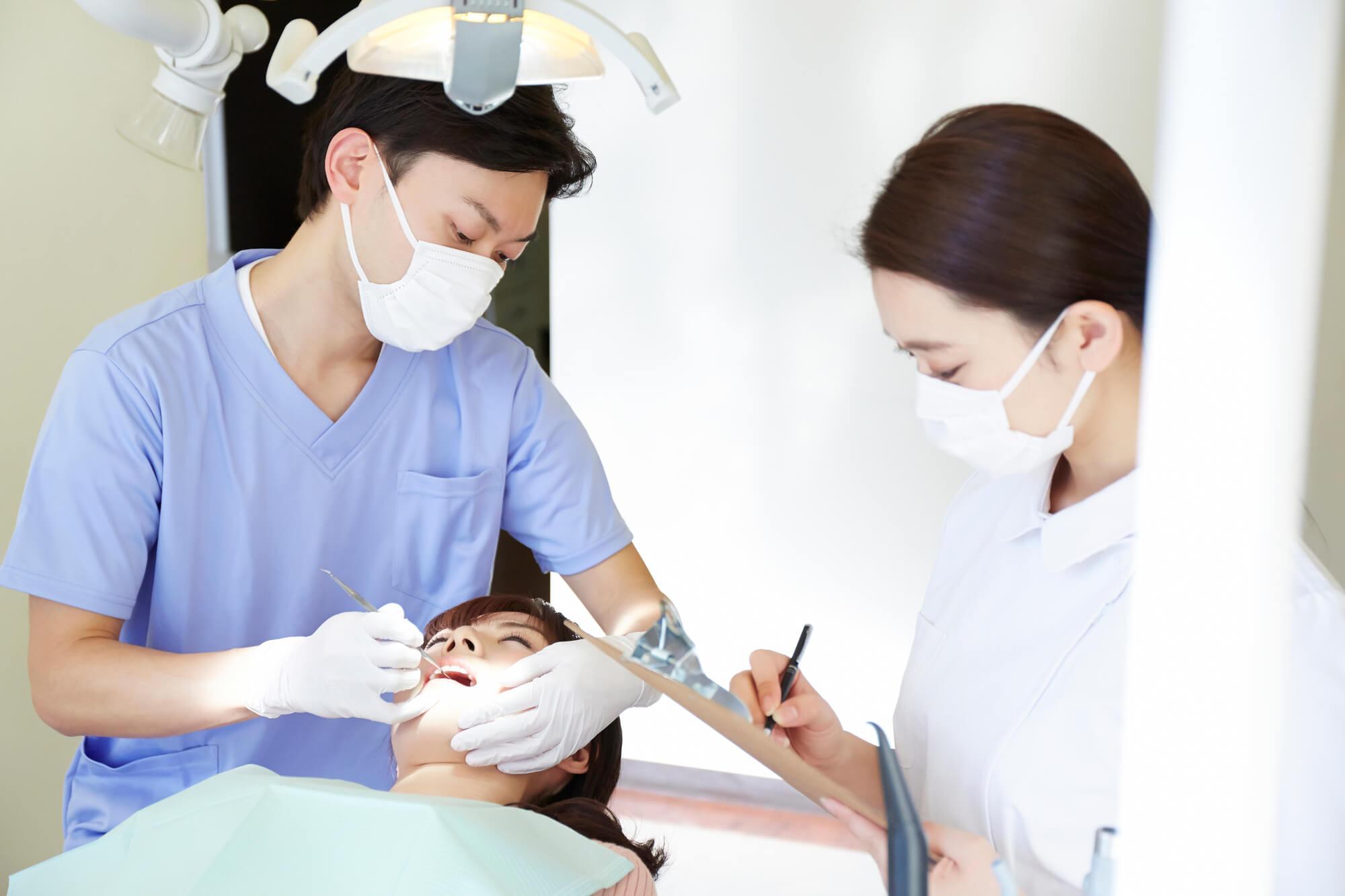 歯科 治療風景
