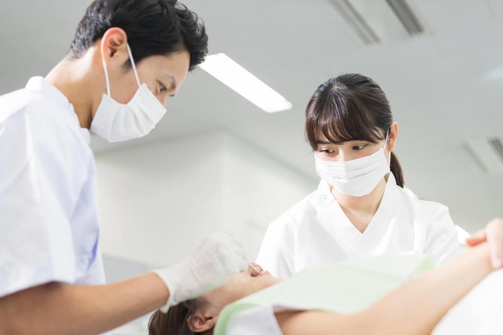 歯 治療風景